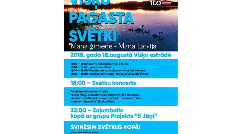 """Višķu pagasta svētki – """"Mana ģimene – Mana Latvija"""""""